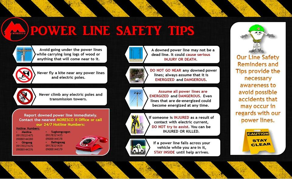 Power Line Safety Tips